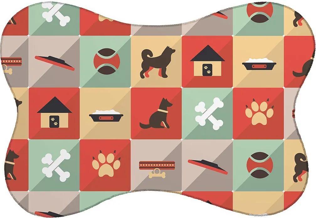 Tapete PET Cachorro Colorido46x33cm