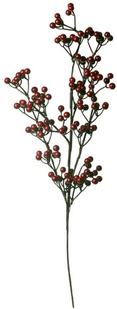 Galho Decoração Natal Para Árvore 62Cm 1 Unidade Vermelho