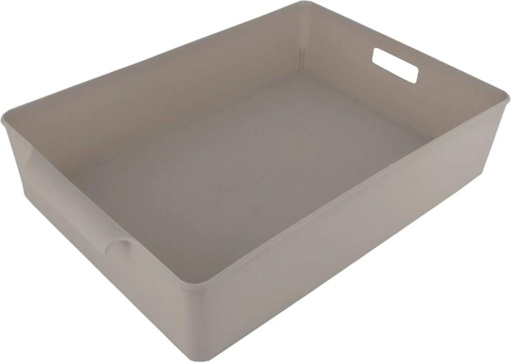 Organizador De Plástico Multiuso 34x 23,5 X 7,2 Bege