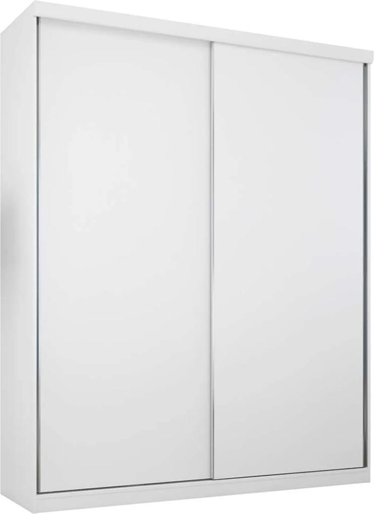 Guarda-Roupa 2 Portas 3 Gavetas Virtual 176 Branco Maderado Robel Móveis