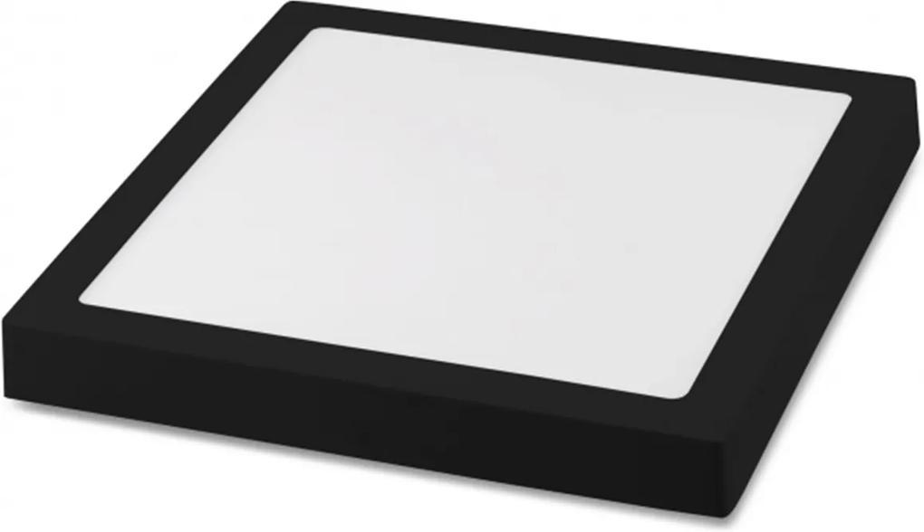 Painel Plafon Led Sobrepor 22,5X22,5cm 20W 3000K Bivolt Preto - Save Energy - SE-240.1616