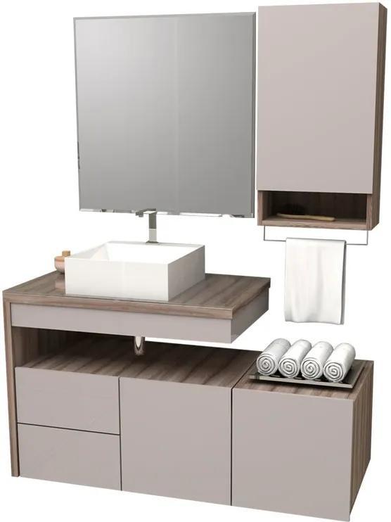 Conjunto De Banheiro Completo Aimoré 100 Cozimax Nudi/tamarindo