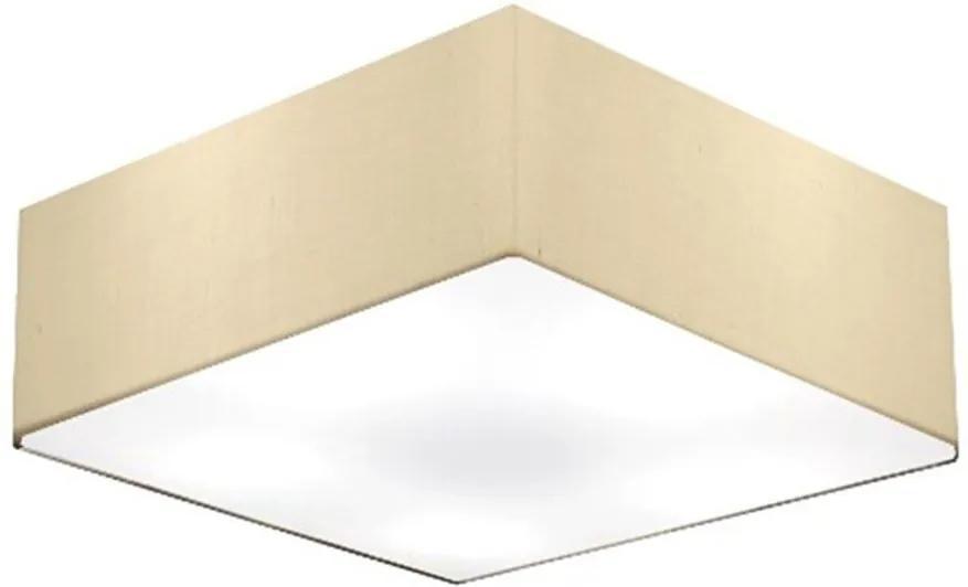 Plafon Quadrado Md-3002 Cúpula em Tecido 15/50x50cm Algodão Crú - Bivolt
