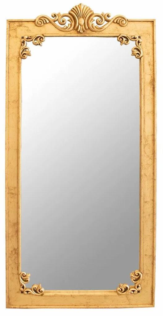 Espelho de Chão Bourbon - Dourado Envelhecido Clássico Kleiner Schein