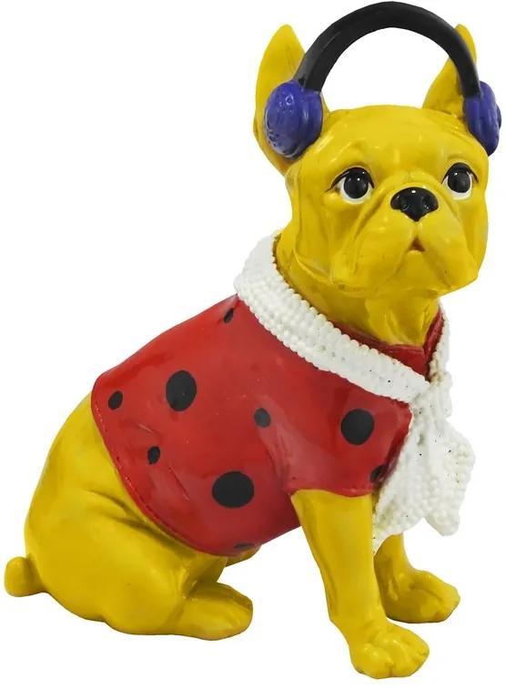 Escultura Em Resina Bulldog Song