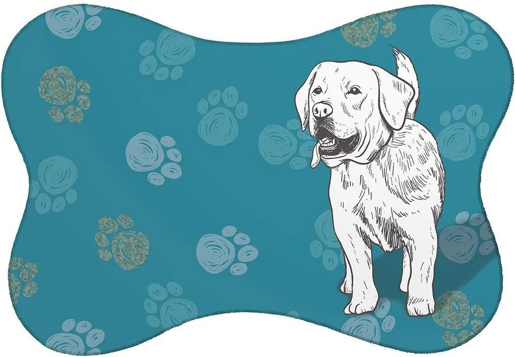 Tapete PET Labrador Azul46x33cm
