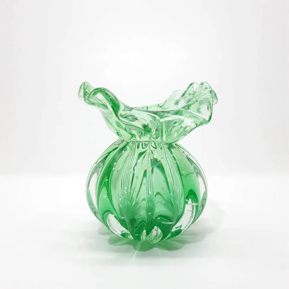 Vaso em Cristal de Murano Toscana 15cm - Cor New Jade