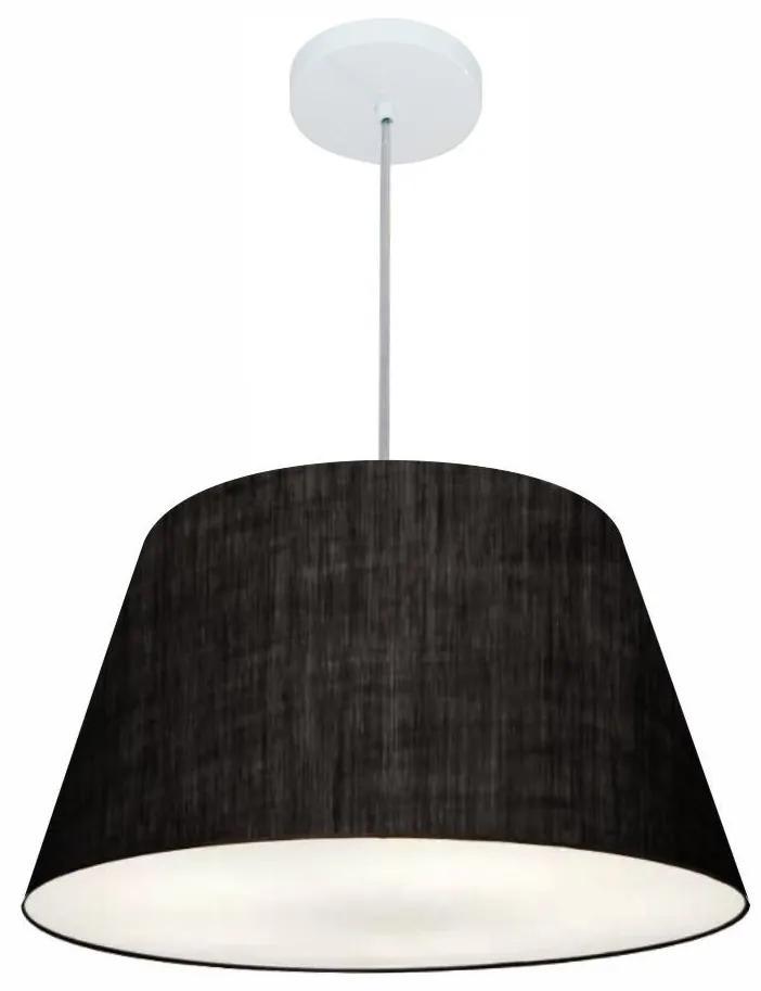 Lustre Pendente Cone Md-4248 Cúpula em Tecido 30/50x35cm Preto - Bivolt