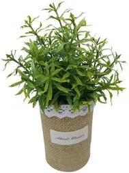 Vaso com Planta Artificial de Plástico Verde 6,5x21cm NDI ST50200