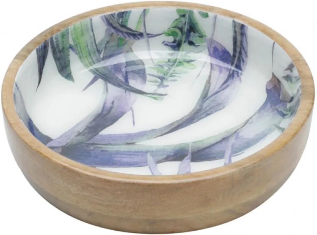 Bowl Bon Gourmet de madeira Flower Colorido