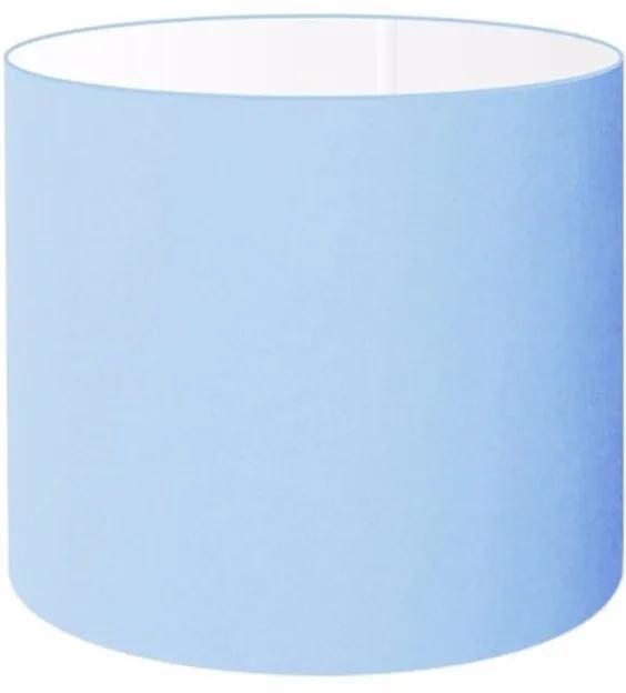 Cúpula Abajur e Luminaria em Tecido Cilíndrica Vivare Cp-8008 Ø20x25cm - Bocal Europeu - Azul Bebê