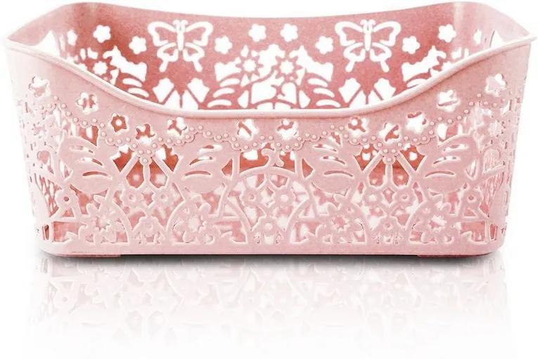 Cesto Organizador Lifestyle Pequeno - Rosa - Jacki Design