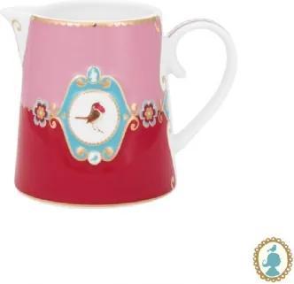 Jarra Pequena Medallion Rosa e Vermelho Love Birds  Pip Studio