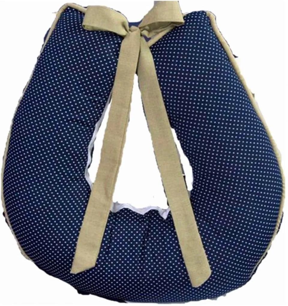 Almofada I9 baby para Amamentação 1 peça Dorminhoco Azul Marinho