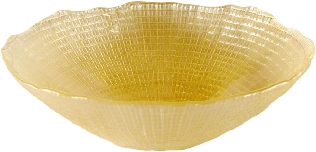 Saladeira Dunya De Vidro Creme 17Cm - Infinity Amarelo