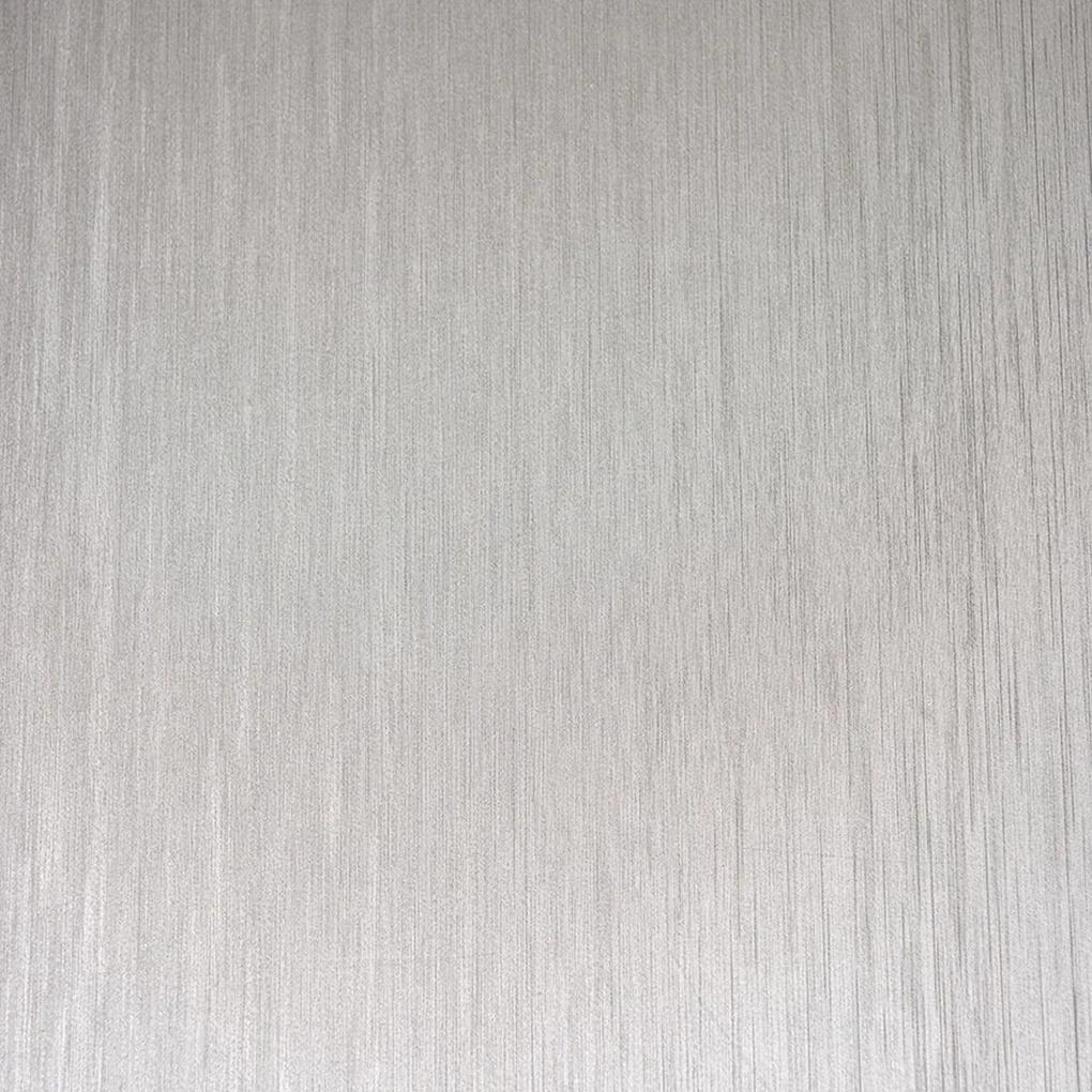 Papel de Parede Autoadesivo Aço Escovado Prata Com Textura 45CM X 10M