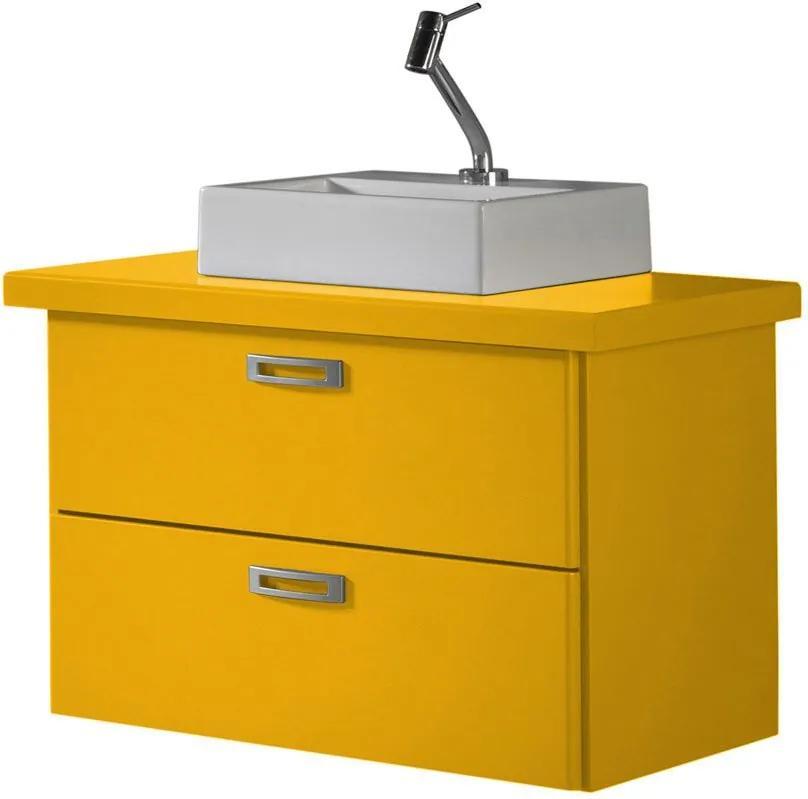 Armário de Banheiro Kenzo 161 Amarelo - Maxima