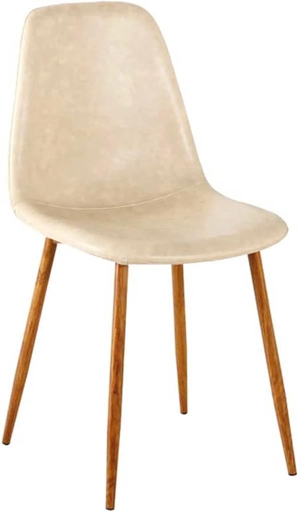 Cadeira Tania Pu Perola Vintage Base Nogueira Rivatti