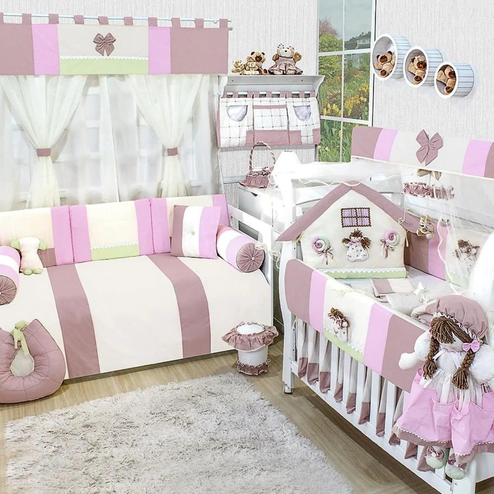 Quarto Completo Padroeira Baby Casinha Menina Rosa