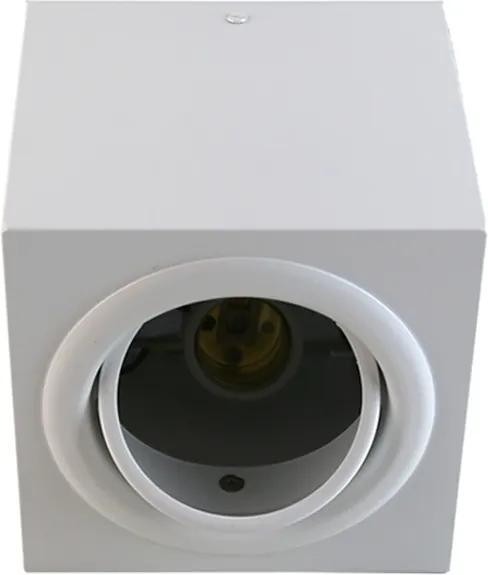 Plafon Sobrepor Aluminio Branco Fosco Dicroica Gu10