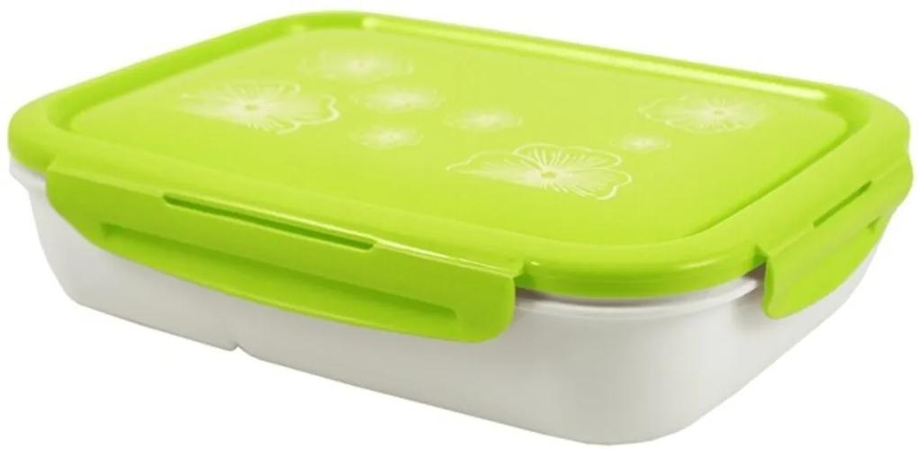 Pote Marmita com 4 Compartimentos 1350ml Jacki Design Lifestyle Verde