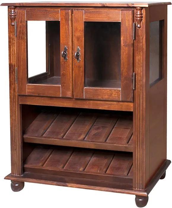Adega Baixa com Lateral de Vidro e 2 Portas - Wood Prime NL 11624