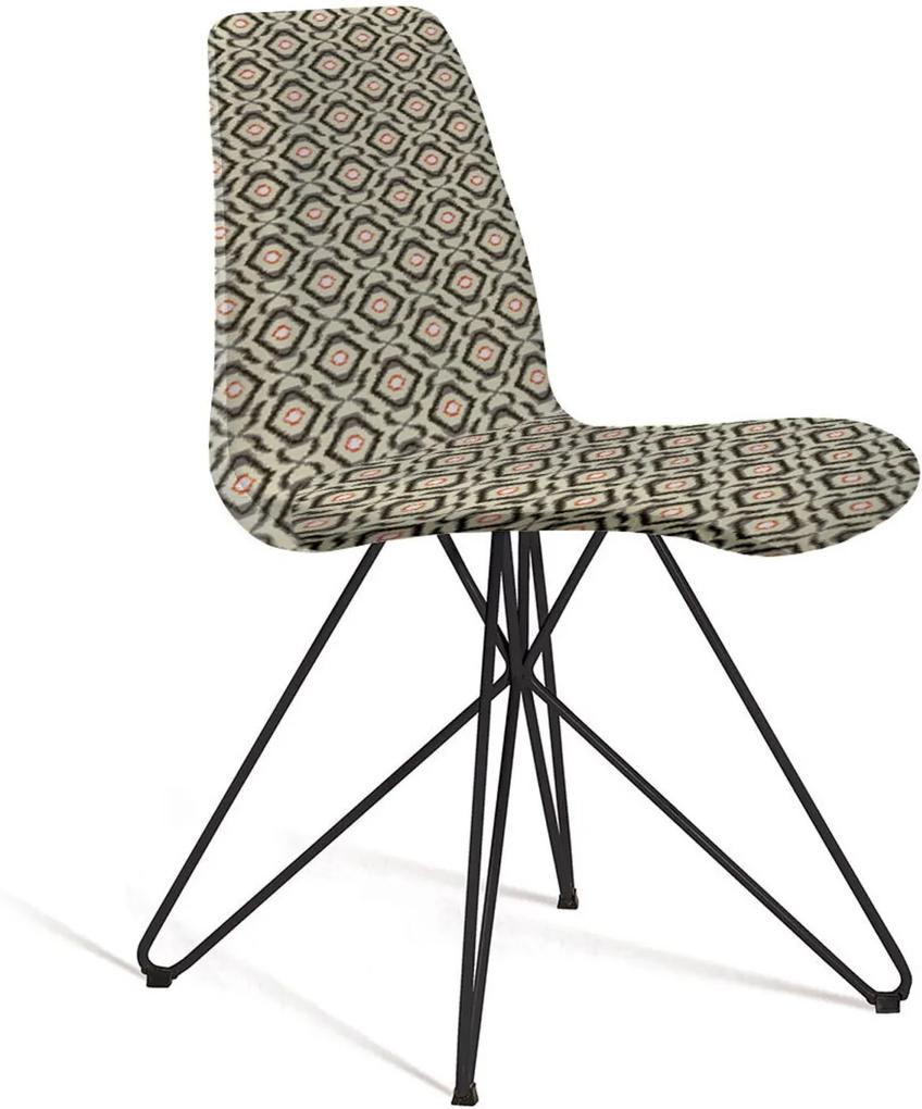 Cadeira Eames Base Aço Carbono Daf Cinza/Bege