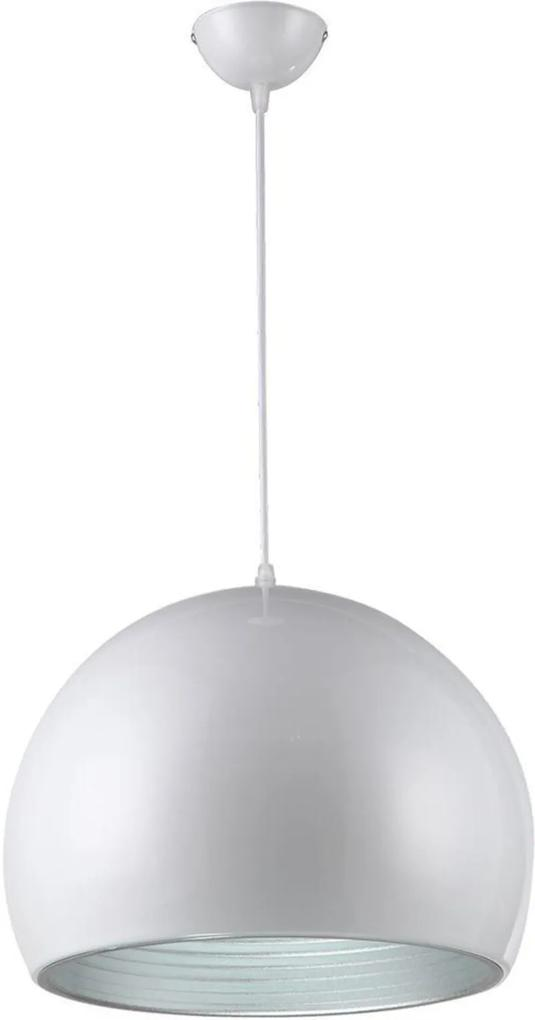 Pendente 115x35cm alumínio cor branco e prata