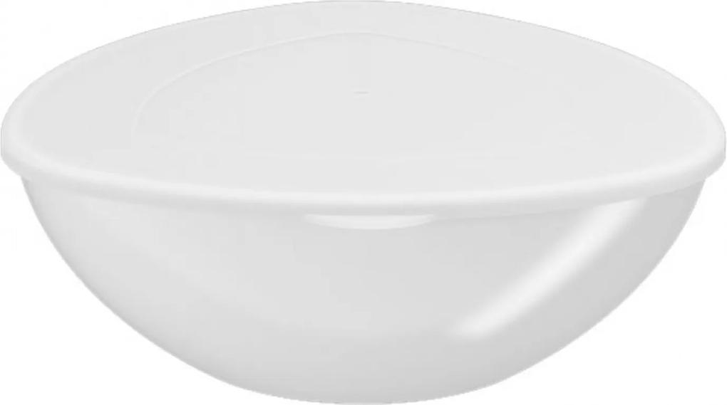 Saladeira Essential Coza com tampa Branca