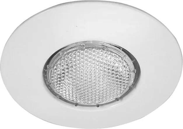 Plafon Embutir Aluminio Branco Par20 E27