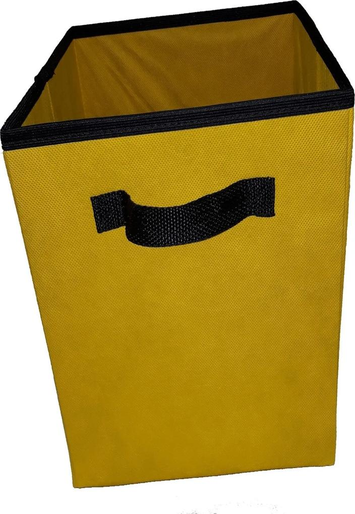 Caixa Organizadora De 28X30X28 Amarela Com Alça