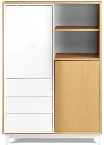 Adega Quadrato Cor Natural Com Branco - 29509 Sun House