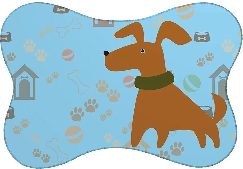 Tapete PET Mdecore Cachorro Azul46x33cm