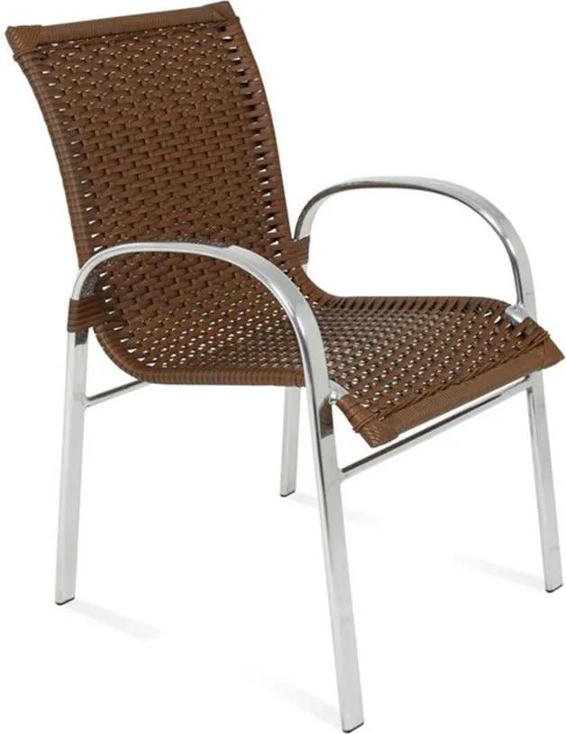 Cadeira Ragusa C/Estrutura em Alumínio e Fibra Sintética