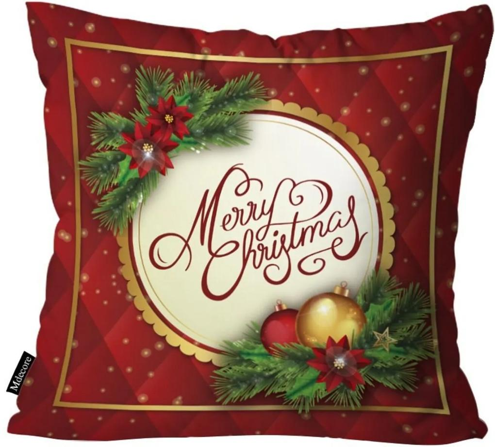 Capa para Almofada Mdecor De Natal Merry Multicolorido
