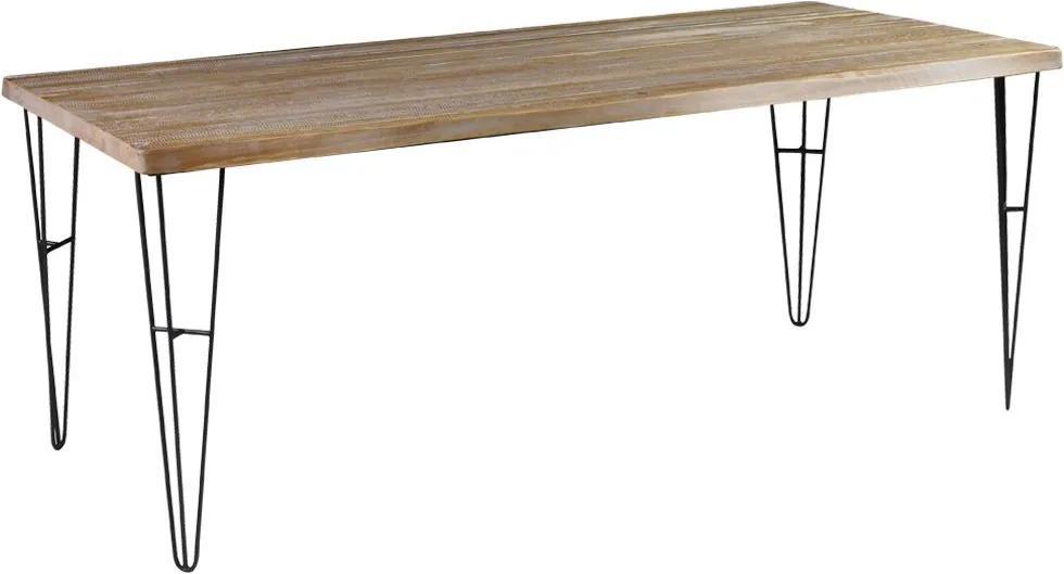 Mesa Sala de Jantar Cozinha Ludiana Live Edge 190cm Grafite Madeira Maciça Driftwood - Gran Belo