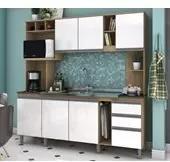 Cozinha Compacta B111 Rustico Branco Briz
