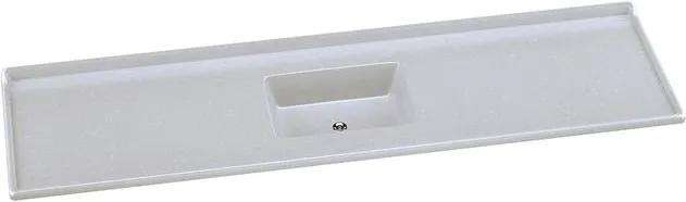 Pia de Mármore Sintético Roralit 200x55cm Gelo com Cuba Gelo - 5390 - Rorato - Rorato