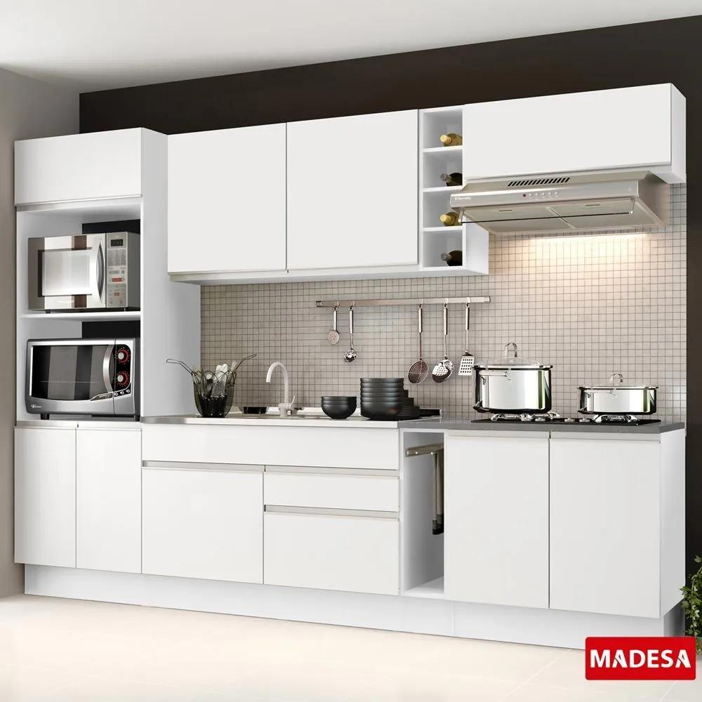 Cozinha Compacta Safira G2016 Branco - Madesa