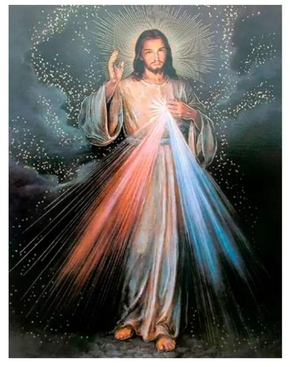 Quadro Decorativo Jesus Misericordioso - KF 48189 40x60 (Moldura 520)