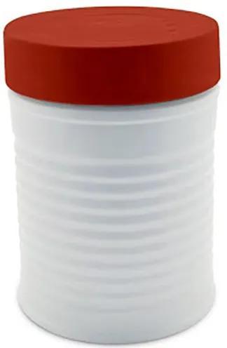 Pote Lata com Tampa Vermelha 900 ml