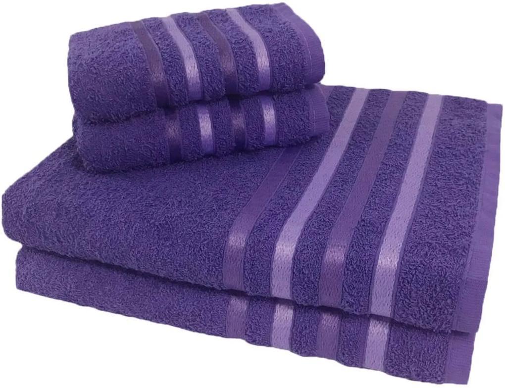 Jogo de Toalha 4 Peças kit de toalhas 2 banho 2 rosto Jogo de Banho Lilás