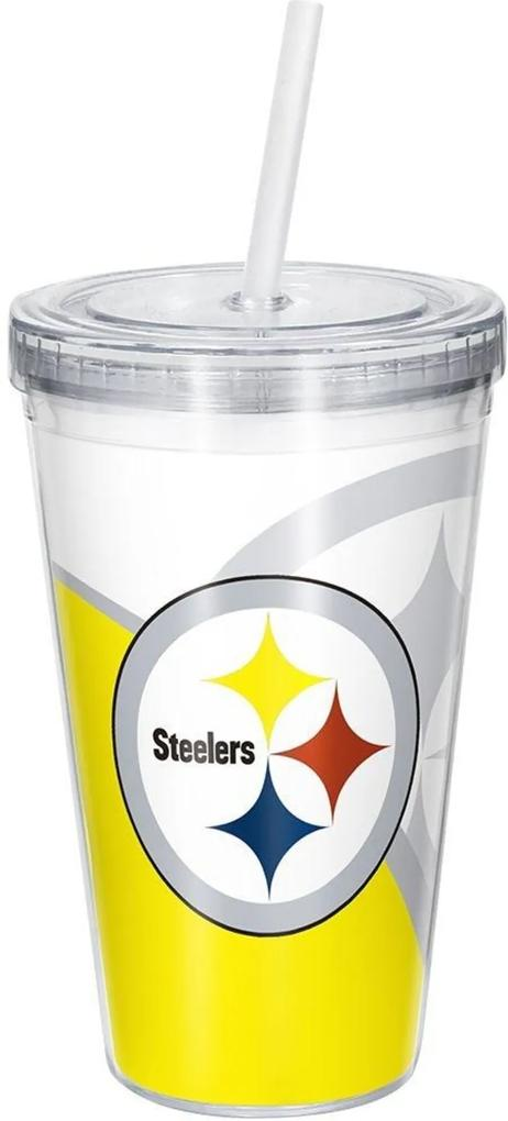 Copo Com Canudo Luxo NFL Pittsburgh Steelers