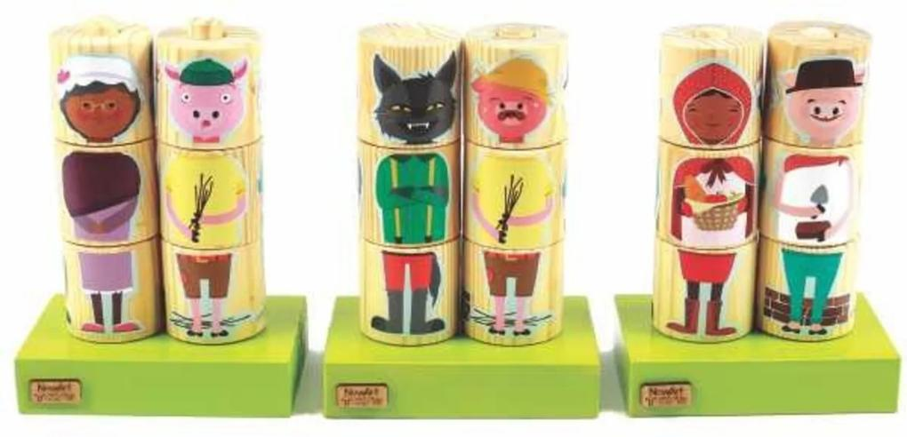 Cilindros para Montar NewArt Toys Personagens Multicolorido