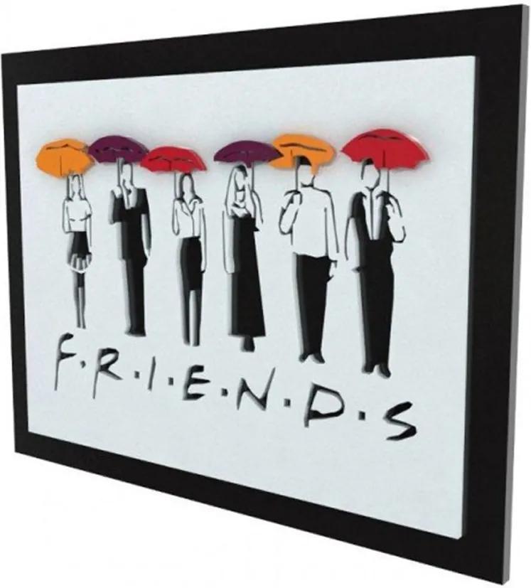 Quadro 3D Seriado Friends Personagens FBA