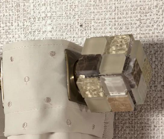 Ponteira Quadrada Pastilha para Varão de 19mm - Cáqui
