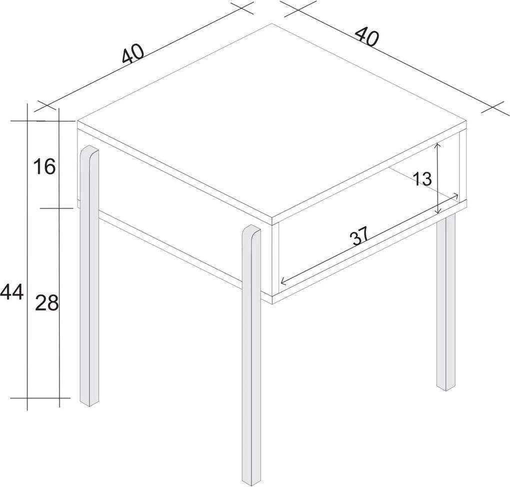 Mesinha Lateral/Revisteiro Estilare Móveis Branca