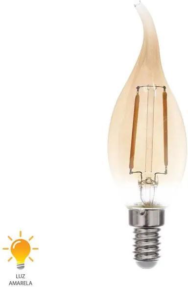 Lâmpada LED Filamento Vela Chama E14 2W 220V 2200K - 0324220 - Blumenau - Blumenau