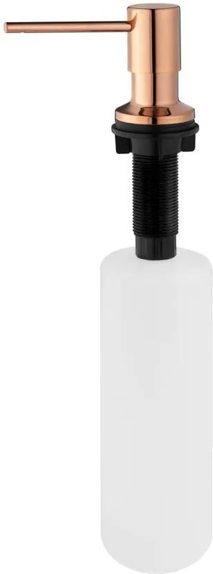 Dosador para Detergente Embutido Inox 500 ml (Flat Rosé Gold)