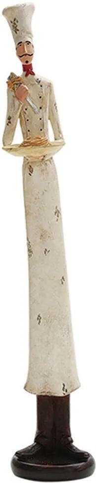 escultura O COZINHEIRO resina 40cm Ilunato QC0090